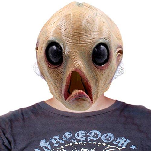 Halloween Deluxe Novelty ET Mask Costume Party Latex Head Mask Alien (Alien Baby Costume)