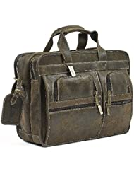 Claire Chase Executive Computer Briefcase, Distressed Brown, One Size