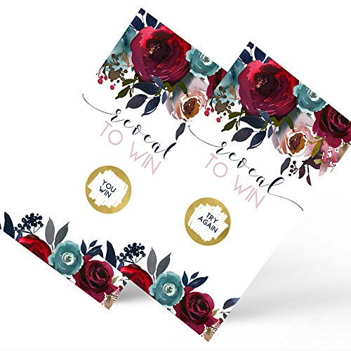 Paper Clever Party Navy Floral Scratch Off Game