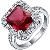 Women Fashion Jewelry 925 Sterling Silver Ruby Gem Wedding Bridal Ring Size 5-11#by pimchanok shop (6)
