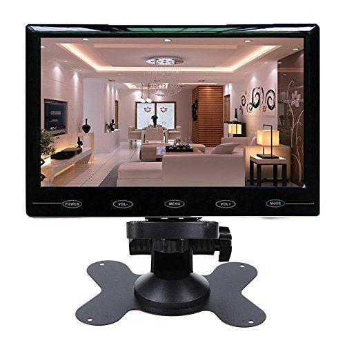 Tv Ntsc Projection - CAIRUTE® 7 Inch Ultra Thin 16:9 Super HD 1024*600 TFT LCD Color Car Rear View Monitor DVD VCD Headrest Monitor Support Audio Video HDMI VGA