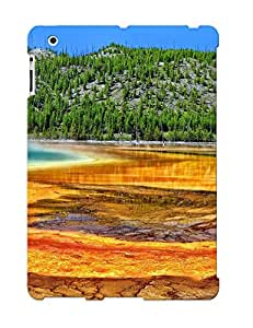 Fireingrass New Arrival MWBFf0qdKJH Premium Ipad 2/3/4 Case(yellowstone Wyoming Hot Spring Trees )