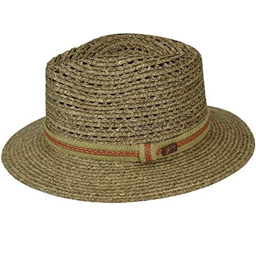 Bailey of Hollywood Mens Garrell Braided Drop Brim Fedora Hat