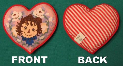 Raggedy Ann Mini Heart Pillow - Red / Pink
