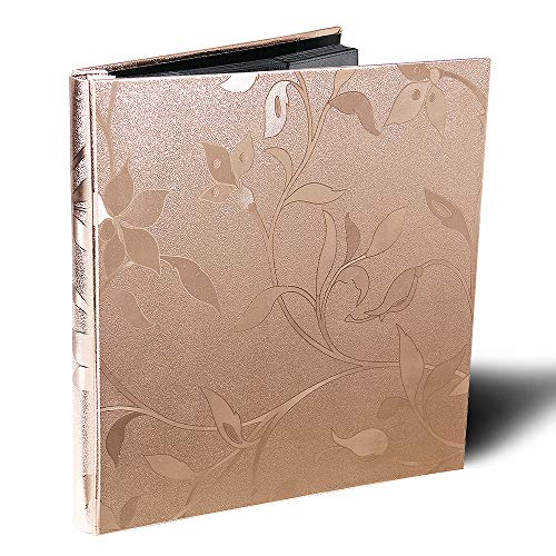 Photo Album Premium Leather Album Sean Bonded Bi-Directional Album 600 Pockets Hold 4x6 Photos Used for Family Wedding Anniversary Baby Vacation (Rose Gold)
