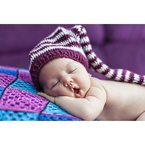 Printelligent Small Sleeping Baby Wall Poster for Pregnant Women - 14 x 26,Multi