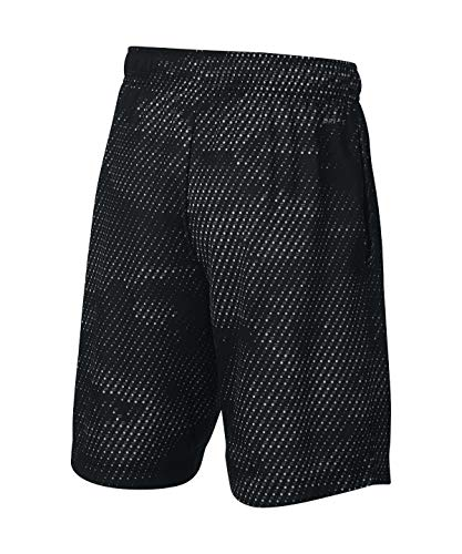 Nike Boy's Athletic Dry Printed Fly Comfortable Elastic Training Shorts with Pockets (Black/Small) by Nike (Image #1)