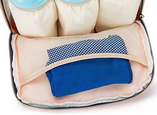 Wasserdicht Stoffe Multifunktional Gro/ße Kapazit/ät Modern Einzigartig Tragbar Handtasche Organizer Baby Wickeltasche Reise Rucksack,Isolierte Tasche Passform f/ür Kinderwage