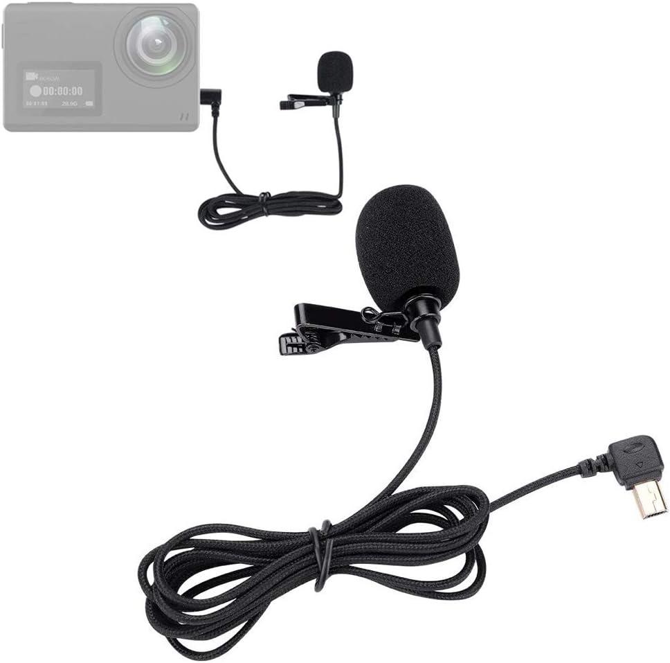 Mavis Laven Lavalier-Mikrofon langlebiger Ansteckclip 1,5 m tragbares Clip-On-Mikrofon f/ür die SJCAM SJ6 SJ7 SJ360 Action-Kamera