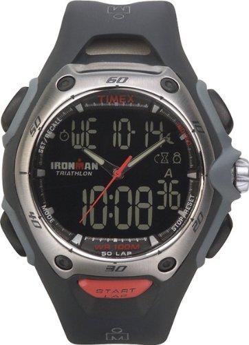 Timex Ironman Triathlon de la Hombres 50 regazo con función Dual Tech reloj t5e351p4