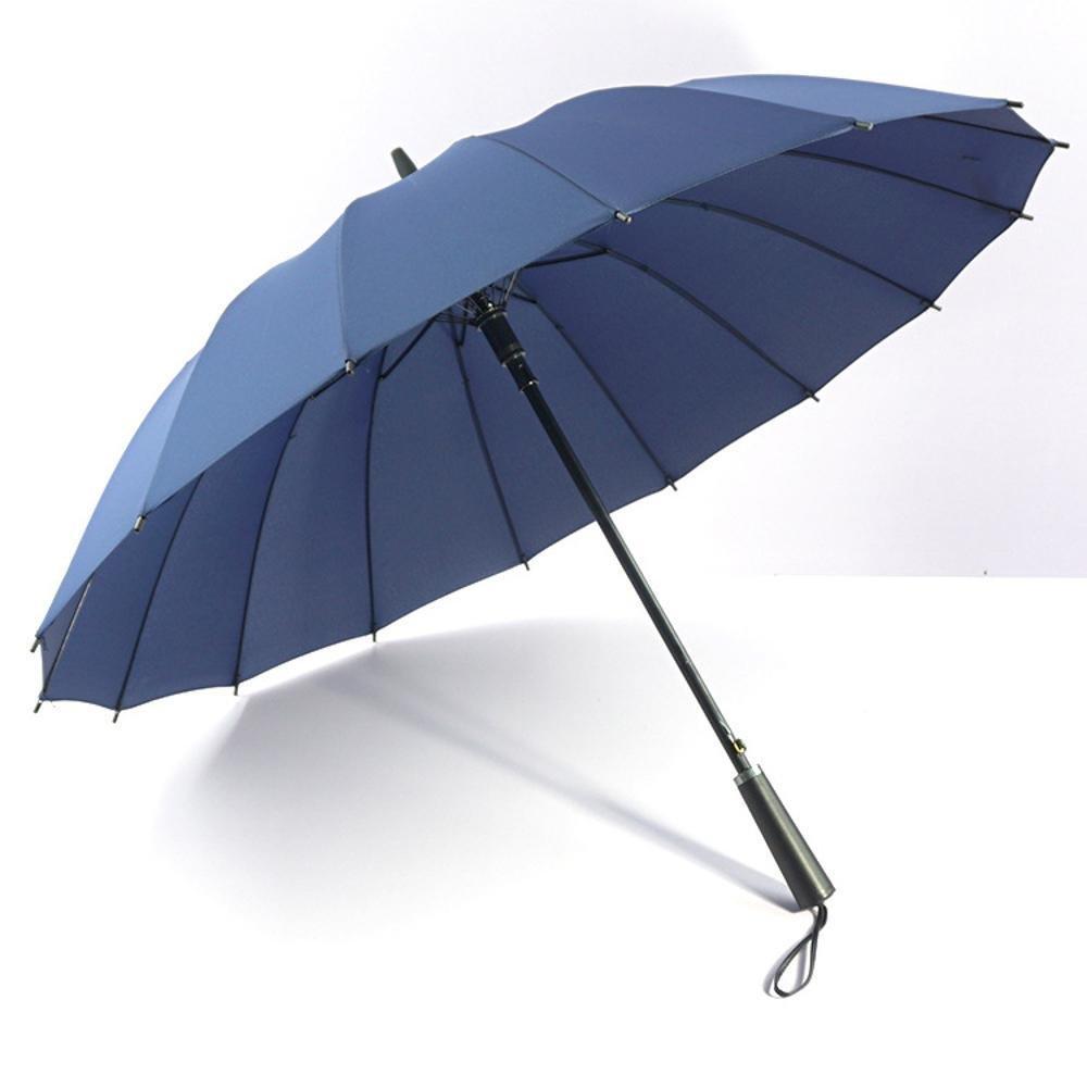 biutefang Umbrellas傘ソリッドカラー傘ストレート傘ロングハンドルビジネス傘自動傘ビジネス傘23インチ ブルー 6933322203207  ブルー B07B3VJWY8