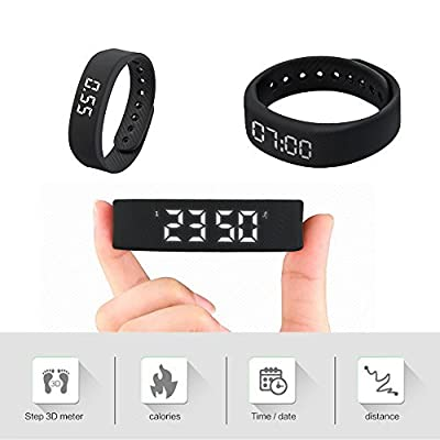 Smart Wristband,iGank T5 Smart Bracelet Sports Fitness Bracelet, No need to install app