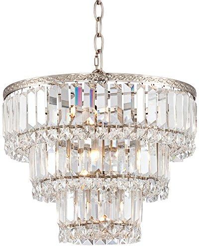 Lamps Plus Satin Chandelier (Magnificence Satin Nickel 14 1/4
