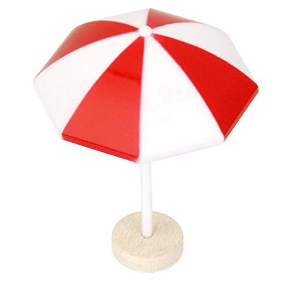 Zerama Miniature Beach Umbrella PVC Decoration Micro Landscape Bonsai Dollhouse Ornaments Baking Decor