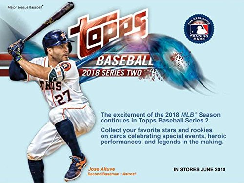 2018 Topps Series 2 Blaster Box (10 Packs/10 Cards: 1 MLB Independence Day USA Flag Patch, 5 Future Stars and 2 Legends in the Making Inserts) SHOHEI OTANI?