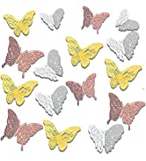 72 Pcs 3D Butterfly Wall Stickers,3D Butterfly Wall Decals Sticker 3 Styles 3 Sizes Wall Decal De...