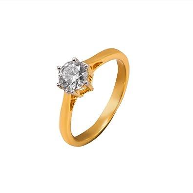 0a3e2263c97 Joyalukkas Pride Diamond Collection 18k Yellow Gold and Diamond Ring for  Women