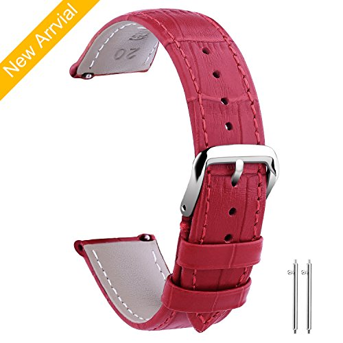 Vetoo 18mm Watch Bands Leather, Quick Release Classic Genuin
