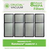 8 Style EF-2 Exhaust HEPA Filters for Kenmore Progressive or Intuition Vacuums; Compare to Kenmore Part Nos. 86880, 20-86880,40320; Designed & Engineered by Think Crucial
