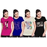 So Sweety Women's Cotton Half Sleeves T-Shirt - Pack of 4
