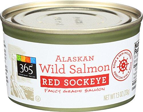 (365 Everyday Value, Alaskan Wild Salmon Red Sockeye, 7.5)