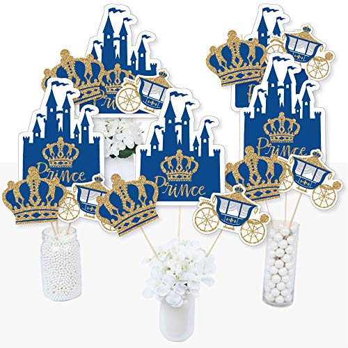 Royal Prince Charming - Baby Shower or Birthday Party Centerpiece Sticks - Table Toppers - Set of 15]()