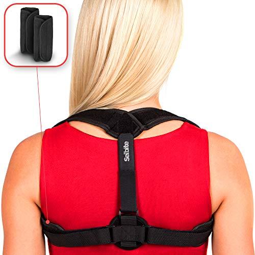 Back Posture Corrector for Women Men - Primate Posture Brace - Back Straightener - Shoulder Brace - Upper Back Brace Posture Support - Kyphosis Scoliosis Trainer Strap - Effective and Comfortable by Selbite