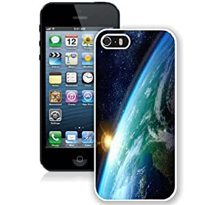 Personalized Phone Case Design with Earth Sunrise From Space iPhone 5s Wallpaper in White