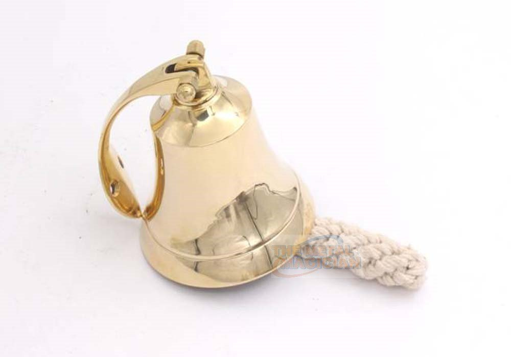 3'' Solid Brass Ship/Last Orders/Pub/Door/School/Dinner/Reception Wall Mountable Bell By The Metal Magician