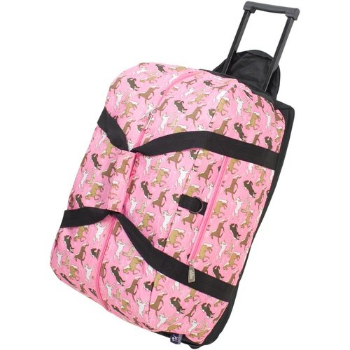 (Wildkin Rolling Duffle Bag, Horses in Pink)