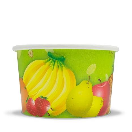 Amazoncom Fresh Fruit Paper Ice Cream Cups 6 Oz Dessert Bowls