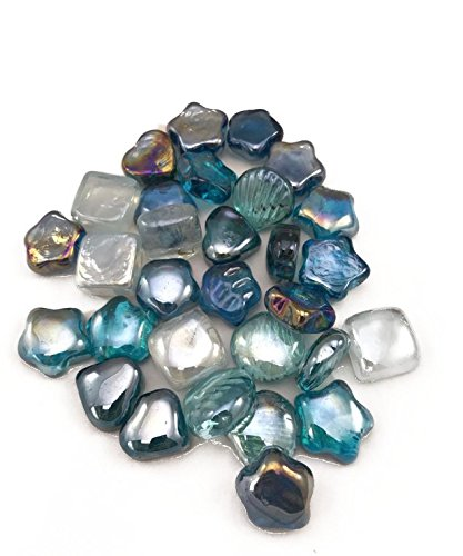 Amazon 5 Pack Flat Marbles Pebbles Glass Gems For Vase