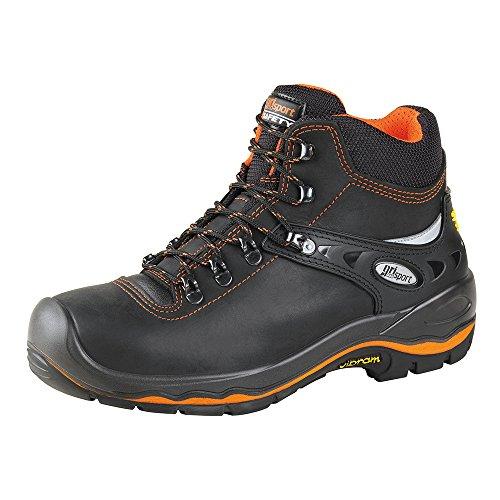 Grisport - Zapatillas de senderismo de Piel para hombre negro