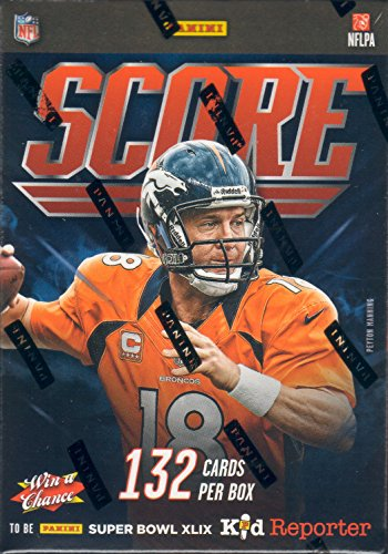 2014 Score NFL Football Series Unopened Blaster Box of Packs That Contains 132 Cards with a Chance for Stars, Rookie Cards, Jerseys, Signatures Plus Russell Athletic White Football Jersey