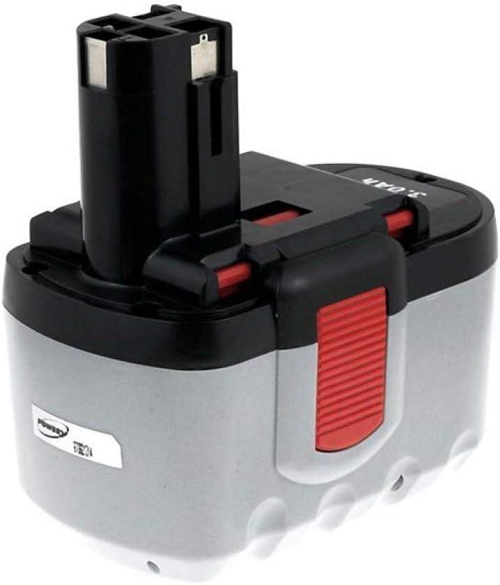 Powery Batería para Bosch Batería de Destornillador eléctrico GSR 24V NiMH 3000mAh O-Pack
