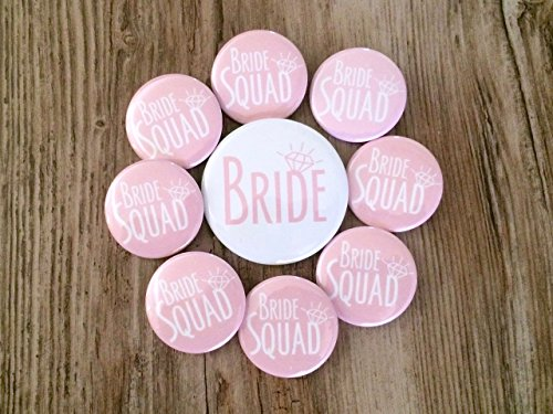 Bride Squad Blush Pink Bachelorette Party Button Set for $<!--$18.00-->