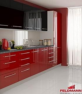 Küchenzeile 16211 Küchenblock jersey / violett Hochglanz 260cm ...