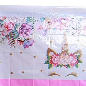 Amazon.com: Mantel de cumpleaños con diseño de unicornio ...