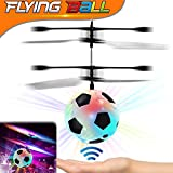 Flying Ball, RC Flying Toy Kids Air Soccer with Led Light up Toys Hand Control Infrared Induction Helicopter Drone Parachute Boys Girls Adults Floating Novelty Gag Toys Sport Outdoors School Travel