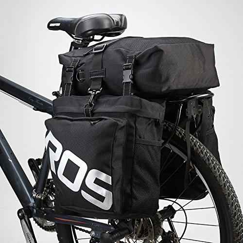 Bike Panniers Messenger Bag Waterproof 3 in 1 Cycling Multi Function Rear Seat Trunk Mountain Bicycle Rack Saddle Bag by COCO (Black)