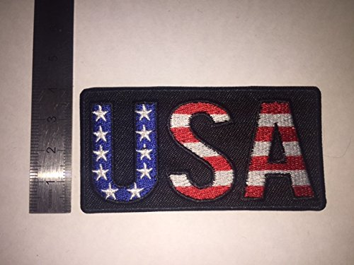 THERMOCOLLANT USA LETTRES DRAPEAU ECUSSON PATCHES AUFNAHER TOPPA