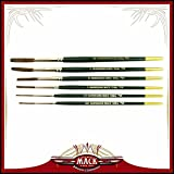 (6) Andrew Mack Brush Hannukaine Quill Brushes