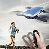 Cewaal H47 Mini Folding Drone with 2 Million Pixels Camera Real-time Transmission,Gravity Sensor Mode One hand Remote Control,Fixed Height Mode Drone for Beginners