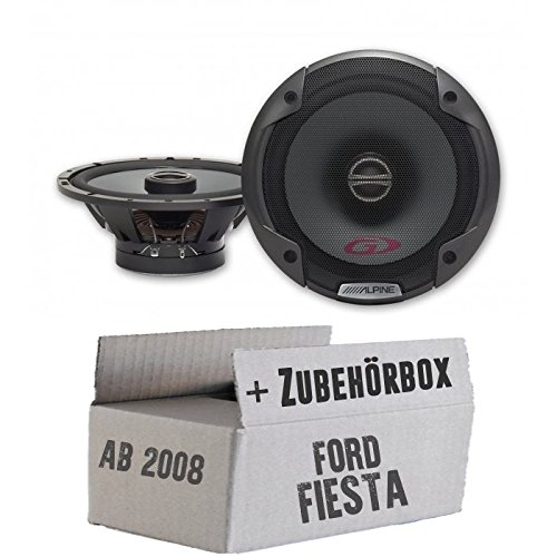 Einbauset f/ür Ford Fiesta MK7 Front Heck Alpine SPG-17C2-2-Wege 16cm Koax Lautsprecher JUST SOUND best choice for caraudio