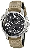 Military Watches Seiko Prospex Smoke Dial SS Tan Textile Chronograph Quartz Men's Watch SSC293
