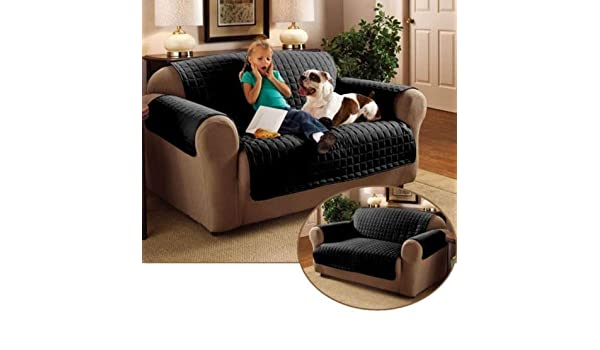 Black, Three Seater) - 3 Seater Sofa Protector Black 170cm x ...