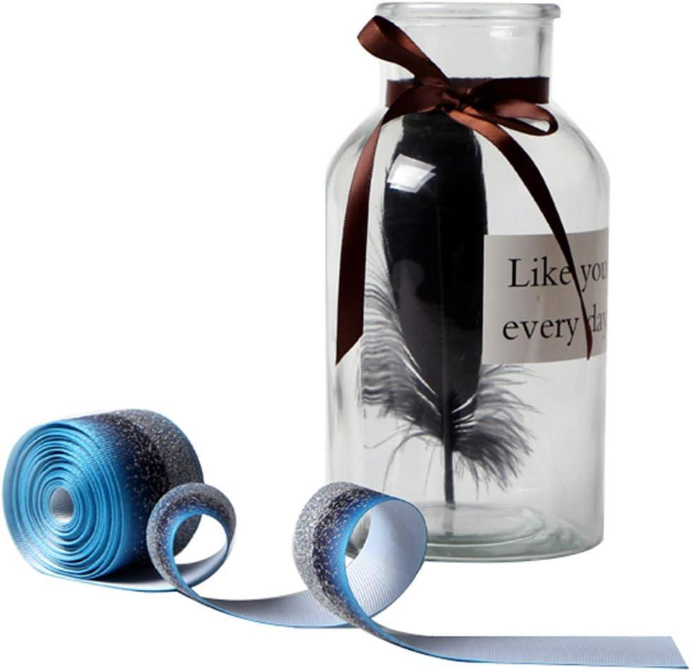 Glitter Fabric Grosgrain Ribbon 1-1//2 x 5 Yards for Making Hair Bow DIY Headband Dressing Arts Sewing Birthday Party Events Bridal Shower Peach Wedding Events