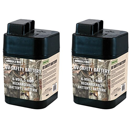 Primos Electronic E-deer - 2 MOULTRIE 6 Volt Rechargeable Safety Batteries for Automatic Deer Feeders |SRB6