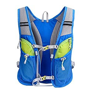 LANZON 2L / 2 Liter Hydration Pack & Bladder (Blue pack with 2L water bladder)
