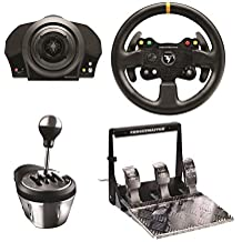 Thrustmaster TX Servo Base, Leather Steering Wheel, Gearbox Shifter, & Pedal Bundle
